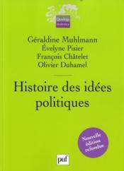Histoire des idées politiques (2e édition). - Couverture - Format classique