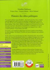 Histoire des idées politiques (2e édition). - 4ème de couverture - Format classique