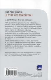 Les noces de soie t.2 ; la villa des Térébinthes - 4ème de couverture - Format classique