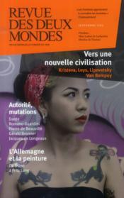 REVUE DES DEUX MONDES ; vers une nouvelle civilisation - Couverture - Format classique