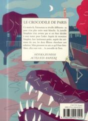 Le crocodile de Paris - 4ème de couverture - Format classique