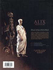 Alix senator T.3 ; la conjuration des rapaces - 4ème de couverture - Format classique
