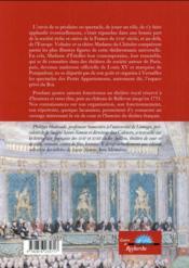 Madame de Pompadour et le théâtre des cabinets du Roi - 4ème de couverture - Format classique
