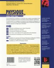Physique ; tout le cours en fiches - 4ème de couverture - Format classique