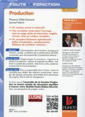 Toute la fonction production ; savoirs, savoir-faire, savoir-être (2e édition) - 4ème de couverture - Format classique