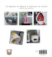 Mes meubles en carton - 4ème de couverture - Format classique