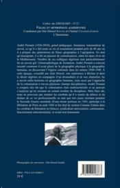 Villes et métropoles algériennes ; hommage à Andre Prenant - 4ème de couverture - Format classique