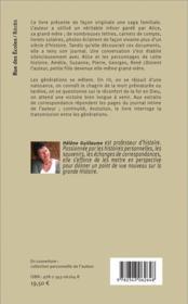 Une saga familiale ; conversations silencieuses - 4ème de couverture - Format classique