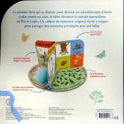 Pierre Lapin : le livre tapis d'éveil de bébé - 4ème de couverture - Format classique