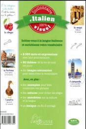 Dictionnaire d'italien 100% visuel - 4ème de couverture - Format classique