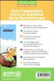 GEOguide coups de coeur ; Guadeloupe - 4ème de couverture - Format classique
