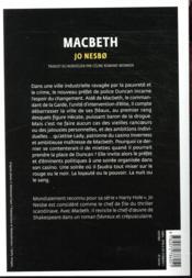 Macbeth - 4ème de couverture - Format classique