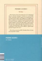 Ici-bas - 4ème de couverture - Format classique