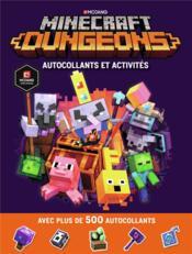 Minecraft ; dungeons autocollants et activités - Couverture - Format classique