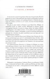 Le tacite, l'humain : anthropologie politique de Fernand Deligny - 4ème de couverture - Format classique