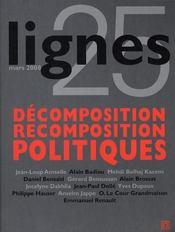 REVUE LIGNES ; revue lignes t.25 ; décomposition / recomposition politiques - Intérieur - Format classique