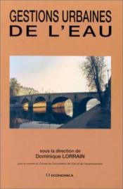 Gestions Urbaines De L'Eau - Couverture - Format classique