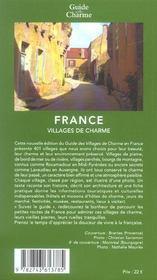 Villages de charme en france - 4ème de couverture - Format classique