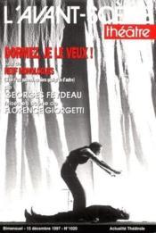 Revue L'Avant-Scene Theatre N.1020 ; Dormez, Je Le Veux ! ; Neuf Monologues - Couverture - Format classique