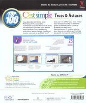 Photoshop cs, top 100 c'est simple - 4ème de couverture - Format classique