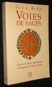 Voies De Sages - Couverture - Format classique