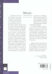 Miroirs Et Jeux De Miroirs Dans La Litterature Medievale - 4ème de couverture - Format classique