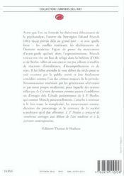 Edvard Munch - 4ème de couverture - Format classique
