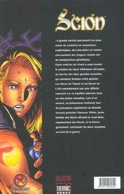 Scion T.1 - 4ème de couverture - Format classique