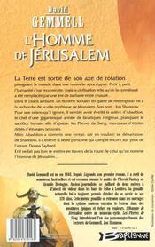 L'homme de jerusalem - 4ème de couverture - Format classique