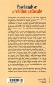 Psychanalyse et relation pastorale ; études de théologie morale autour du frère Albert Plé - 4ème de couverture - Format classique