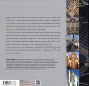 Paris panorama de l'architecture - 4ème de couverture - Format classique