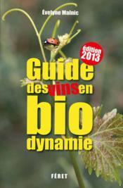 Guides des vins en biodynamie (édition 2013) - Couverture - Format classique