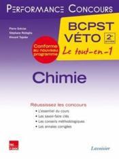 PERFORMANCE CONCOURS ; chimie ; 2e année BCPST-véto - Couverture - Format classique