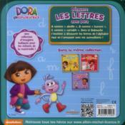 Découvre les lettres avec Dora - 4ème de couverture - Format classique