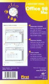 Office 98 Mac - 4ème de couverture - Format classique