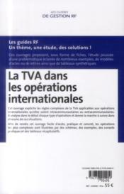 La TVA dans les opérations internationales (édition 2014) - 4ème de couverture - Format classique