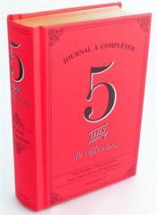 5 ans de réflexions - Couverture - Format classique