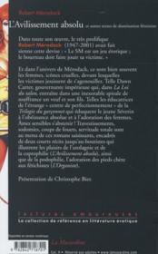 L'avilissement absolu et autres textes de domination féminine - 4ème de couverture - Format classique