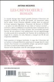 Les Crèvecoeur t.2 ; Romain - 4ème de couverture - Format classique