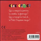 Cric croc ! - 4ème de couverture - Format classique