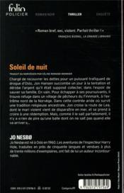 Soleil de nuit - 4ème de couverture - Format classique
