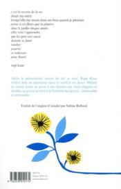 Le soleil et ses fleurs - 4ème de couverture - Format classique