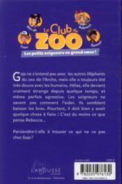 Le club du zoo ; Gaja a besoin d'aide - 4ème de couverture - Format classique