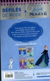 La Reine des Neiges 2 ; défilés de mode - 4ème de couverture - Format classique