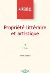 Propriété littéraire et artistique (2e édition) - Couverture - Format classique