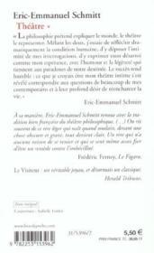 La nuit de valognes, le visiteur, le baillon, l'ecole du diable (theatre, tome 1) - Couverture - Format classique