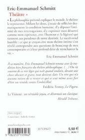 La nuit de valognes, le visiteur, le baillon, l'ecole du diable (theatre, tome 1) - 4ème de couverture - Format classique