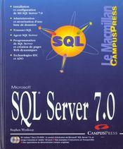 Microsoft Sql Server 7.0 - Intérieur - Format classique