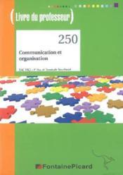 Corrige communication et organisation bac pro secretariat - Couverture - Format classique