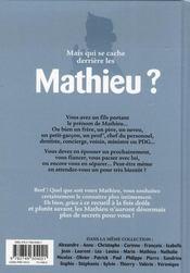 L'encyclopédie des prénoms t.24 ; Mathieu - 4ème de couverture - Format classique